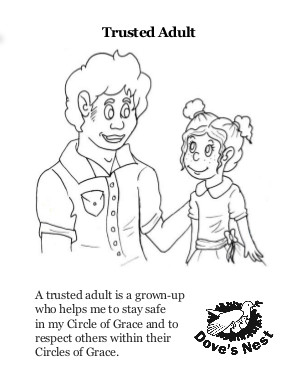 Trusted Adult Coloring Page
